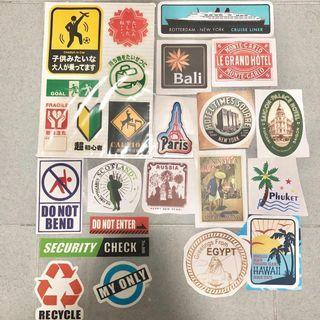 BN Stickers [Luggage • Scrapbook • Craft]