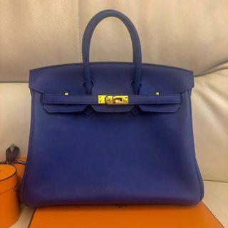 🚚 LNIB Birkin 25 bleu electric ghw stamp T