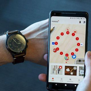 FOSSIL名牌男士智能手錶NDW3G HYBRID SMARTWATCH ACTIVIST LUGGAGE LEATHER真貨