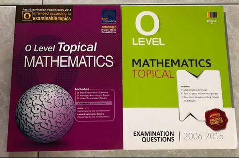 O Level Topical Mathematics TYS