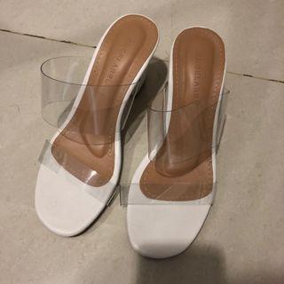 transparant heels