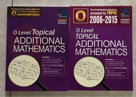 O Level Additional Mathematics Topical TYS