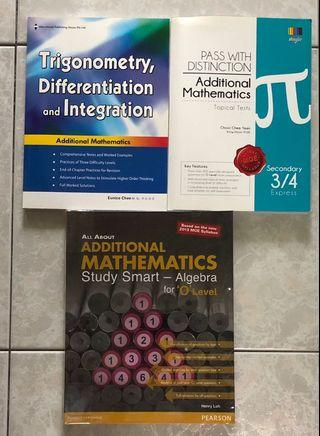 O Level Additional Mathematics Assessment Books