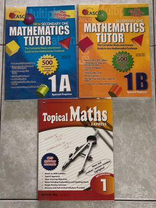 Secondary One Mathematics Assessment Books