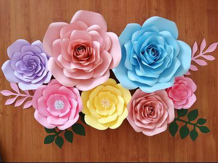 Giant Paper Flower Backdrop Decor 🏵️ready-made🏵️