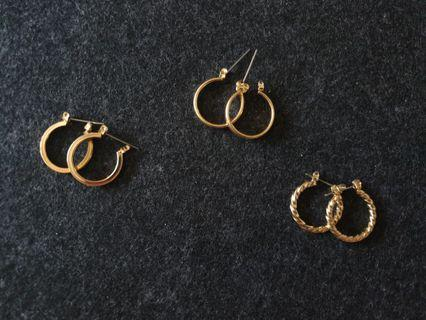 🚚 Gold Hoop Earrings