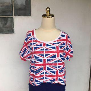 England crop top