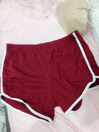 Maroon casual shorts