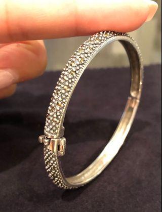 🚚 Marcasite Sterling Silver Bracelet