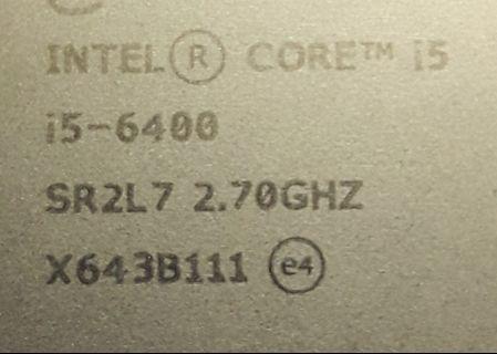 Processor Intel Core i5 - 6400