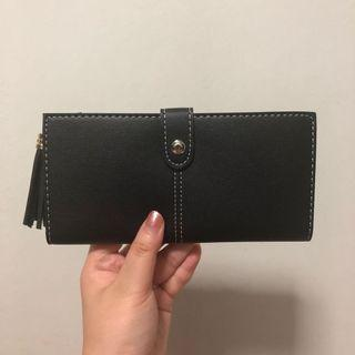 🚚 (One Month Sales) Black Long Wallet With Tassel