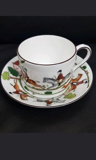 Wedgwood Hunting Scenes Bone china cup and saucer