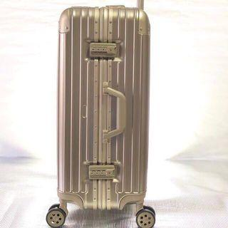 Luggage 20/24/26/28 Aluminium Alloy frame with Approved TSA lock  And ABS+ PC body no zipper