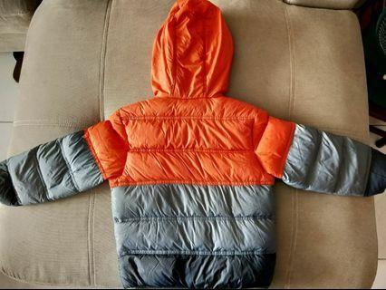 🚚 🔥幼童橘灰羽絨外套 超保暖