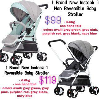 Baby stroller Reversible/non Reversible handles