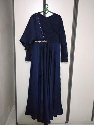 Renzi Dress Gamis Pekgo Apparel Donker Type A ORIGINAL Kondangan Kebaya Pesta Muslimah