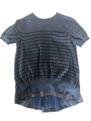 SACAI silk and knit top