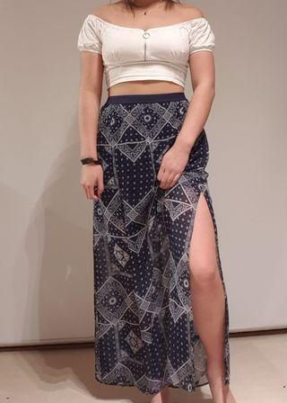 Bohemian Blue Max Skirt