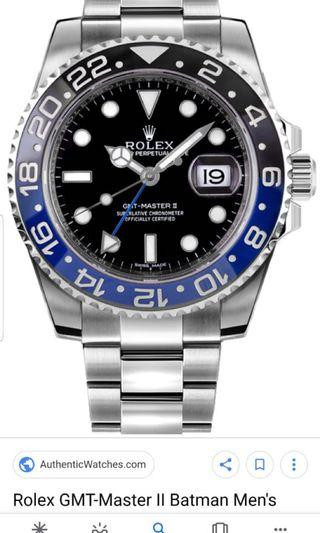 Rolex GMT Master 2 Model-116710BLNR (Batman)