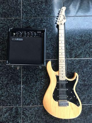 Gitar Elektrik Cort + Ampli Yamaha