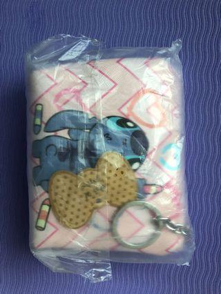 Stitch purse with keychain