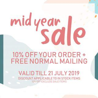 Mid Year Sale 2019