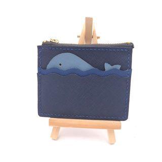全手工 真皮 海豚造型卡片套連散銀包 Card Holder (藍色系列)