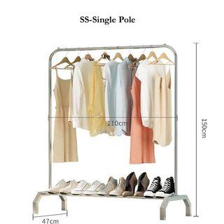 Free delivery Single Pole Stainless Steel Clothes Rack
