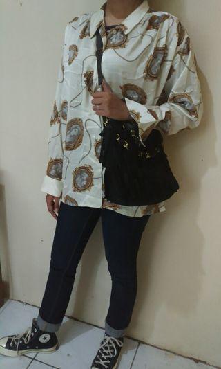 Silk shirt kemeja vintage (not versace burberry )
