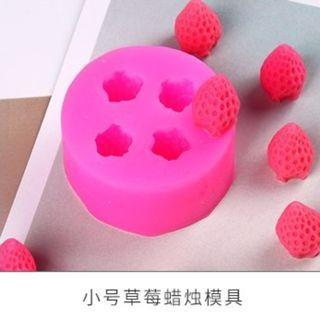 草莓蠟燭、手工香皂矽膠模具