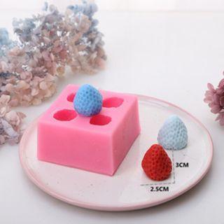 大草莓蠟燭、手工香皂矽膠模具
