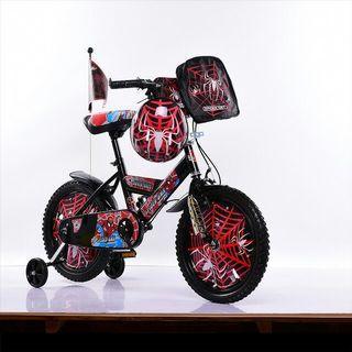 Kids bicycle/spiderman bicycle/fix price