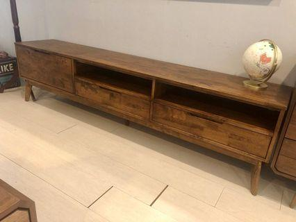 7ft full solid tv cabinet