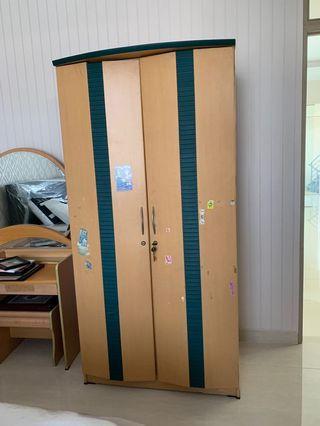 Lemari Baju Kayu 2 Dua Pintu