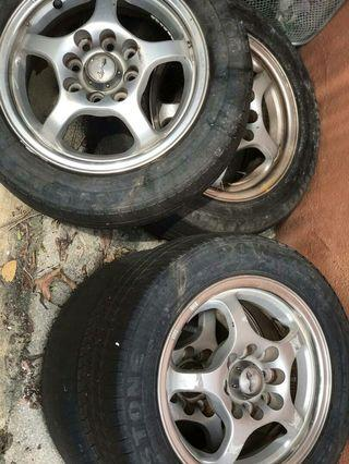 13 Inch Rims with Tyres Perodua Kelisa