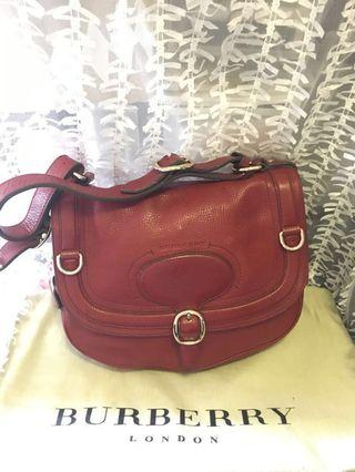 Burberry burgundy leather bag 棗紅色皮革手袋