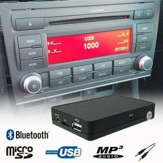 奧迪AUDI TT A3 A4 原車機頭增加藍牙裝置 A2DP USB SD AUX IN