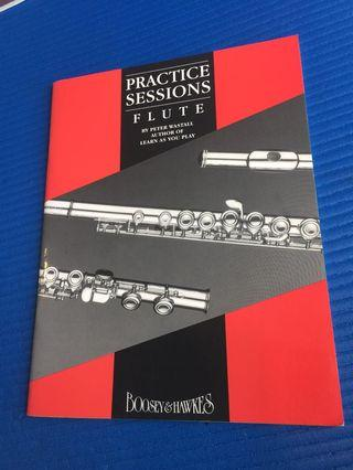 Practice Sessions for Flute by Peter Wastall