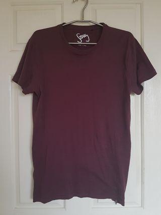 Burgundy Tshirt w/zips - Roger David