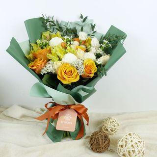 🚚 20% OFF Sunset Forest Bouquet | Birthday Flowers | Flowers Delivery | Fresh Flowers | Anniversary Gift | Rose Bouquet