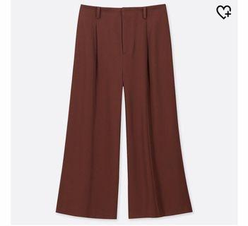Uniqlo High Waist Brown Culottes