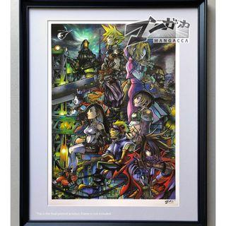 FINAL FANTASY 7 (kingdom hearts crossover) Printed Poster (2ND RERUN)