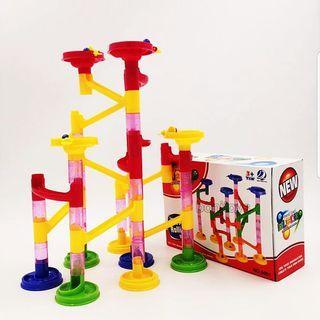 58pcs Marble Run Maze Race Educational Building Blocks Educational Puzzles Toy Set Montessori Hands On DIY Creative Play