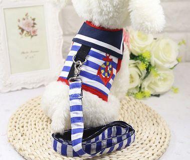 Pet Harness Cat Dog Rabbit Sailor Style PC099