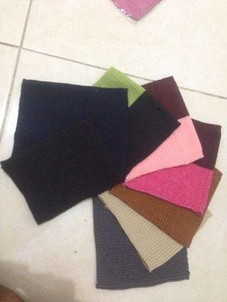 Iket hijab dan masker kain warna