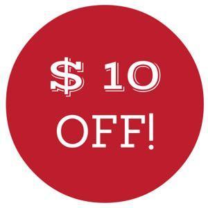 take $10 off