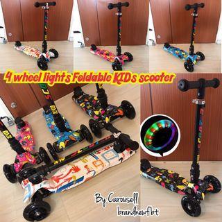 Light wheels kids scooter foldable
