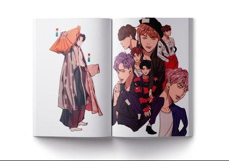 🚚 BTS Fanart Illustration Book