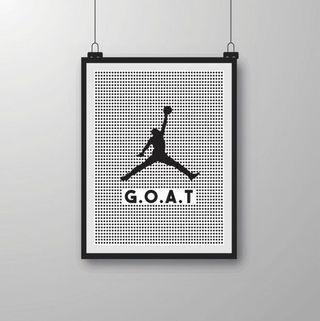 Jordan GOAT Wall-art