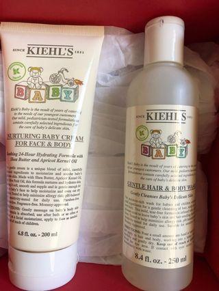🚚 Kiehl's BABY hair and body wash & body cream